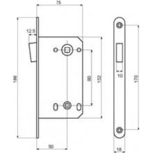 Защелка PALIDORE магнитная сантехническая 13М-90 мм (ст.медь)