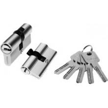 Цилиндр для врезн. замка 60мм 3 кл.,ключ/ключ PALIDORE A60PC, Хром