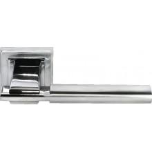 Ручка дверная на квадратной розетке MORELLI DIY MH-13 SC/CP-S матовый хром/полированный хром