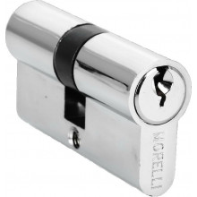 Ключевой цилиндр ключ/ключ MORELLI 60C PC хром глянец