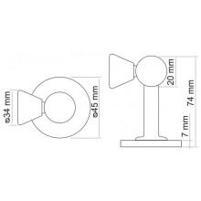 Дверной ограничитель магнитный MORELLI MDS-3 SN белый никель