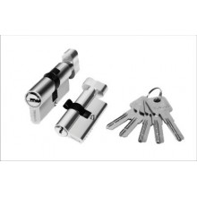 Цилиндр для врезн. замка 60мм 3 кл.,ключ/завёртка PALIDORE A60PC, Хром