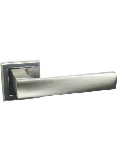 Ручка дверная на квадратной накладке BUSSARE LIMPO A-65-30 S.CHROME матовый хром