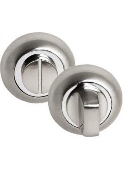 Завёртка PALIDORE сантехническая на круглой накладке OL HH, белый никель