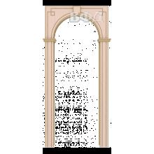 Межкомнатная арка Шпон - Классика - Беленый дуб