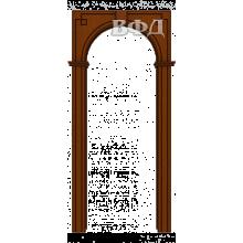 Межкомнатная арка Шпон - Классика - Макоре