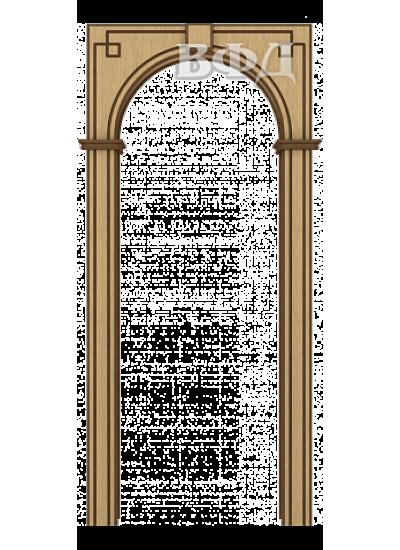 ВФД - Межкомнатная арка Шпон - ВФД - Классика - Светлый дуб