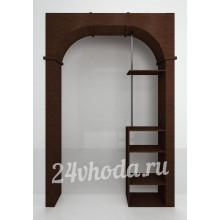 Межкомнатная арка ЛДСП - С полками и трубой - (в проем от 120 см)