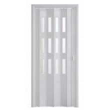 Дверь-гармошка (остекленная) - «Фаворит» - Белый глянец