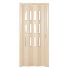 Дверь-гармошка (остекленная) - «Фаворит» - Дуб беленый
