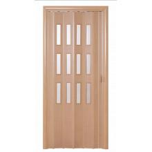Дверь-гармошка (остекленная) - «Фаворит» - Дуб старый