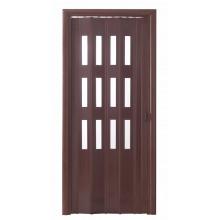 Дверь-гармошка (остекленная) - «Фаворит» - Венге