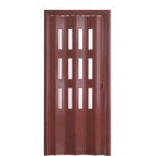 Дверь-гармошка (остекленная) - «Фаворит» - Вишня