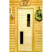 Дверь из Липы - (Остекленная) - ПО-2