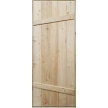 Дверь клиновая «Ласточкин хвост» - (лиственница, 1800х700 мм)