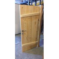 Дверь клиновая из сосны «Ласточкин хвост» - (полотно 45 мм, размеры на заказ, сорт АБ)