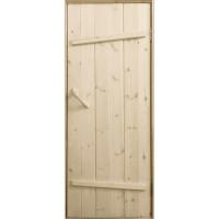 Дверь клиновая из лиственницы «Ласточкин хвост» - (полотно 30 мм, размеры на заказ, сорт АБ)