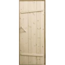 Дверь клиновая из сосны «Ласточкин хвост» - (полотно 35 мм, размеры на заказ, сорт АБ)
