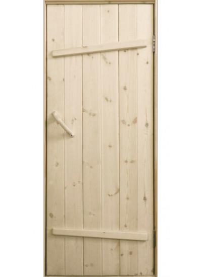 Дверь в парную для бани из доски купить в Красноярске