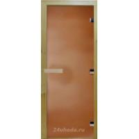 Стеклянная дверь в парную «Бронза матовая» - (стекло 8 мм, 1900х700мм)