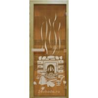 Стеклянная дверь в парную «Бронза банька» - (стекло 8 мм, 1900х700мм)