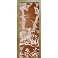 Стеклянная дверь в парную «Бронза мишки» - (стекло 8 мм, 1900х700мм)