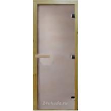Стеклянная дверь в парную «Сатин матовая» - (стекло 8 мм, 1900х700мм)