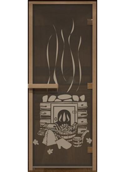 Стеклянная дверь - (Для бани и сауны 1900х700мм) - Черный