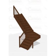 Лестница Г-образная 1 - Эконом