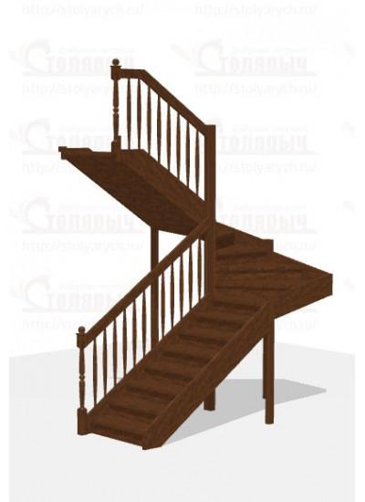 Лестница П-образная - Эконом