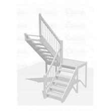 Лестница П-образная с площадкой - Престиж