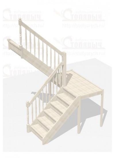 Лестница П-образная с площадкой - Стандарт