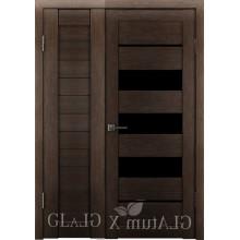Полуторная дверь GL ATUM X6 + X16 - Венге