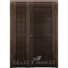 Полуторная дверь GL ATUM X6 + X6 - Венге