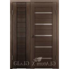 Полуторная дверь GL ATUM X6 + X7 - Венге
