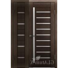 Полуторная дверь GL ATUM X7 + X11 - Венге