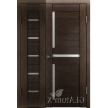 Полуторная дверь GL ATUM X7 + X16 - Венге
