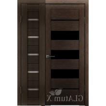 Полуторная дверь GL ATUM X7 + X22 - Венге