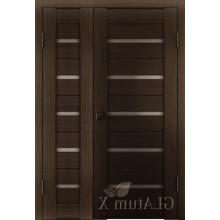 Полуторная дверь GL ATUM X7 + X7 - Венге