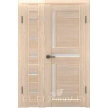 Полуторная дверь GL ATUM X7 + X16 - Капучино