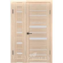Полуторная дверь GL ATUM X7 + X30 - Капучино