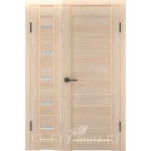 Полуторная дверь GL ATUM X7 + X6 - Капучино