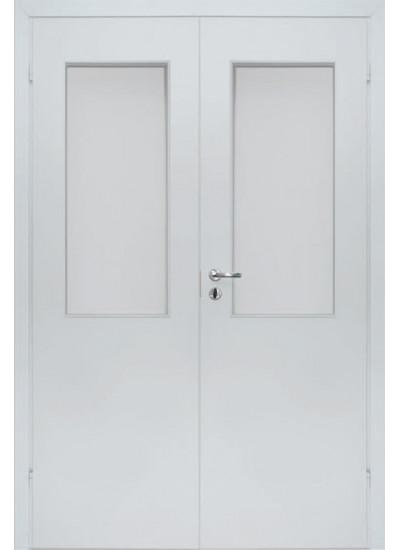 Olovi - Противопожарная двупольная EI30/34db - (Остекление 25%) - Белая
