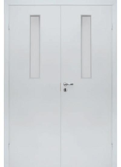 Olovi - Противопожарная двупольная EI30/34db - (Остекление 9%) - Белая