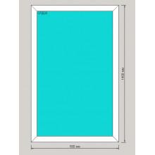 Окно ПВХ 900х1400 мм - (одностворчатое, 3-камерный профиль, глухое)