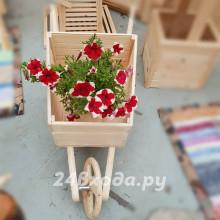 Садовая «Тачка телега» декоративная