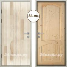 Входная деревянная дверь «ЗИМА - Вагонка / Каролина»