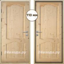 Входная деревянная дверь «ЗИМА ПЛЮС - Каролина»