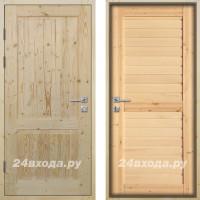 Входная деревянная дверь «ЗИМА ПЛЮС - Классика / Царга»