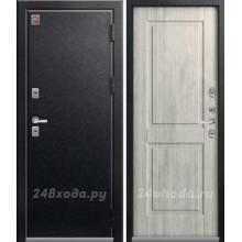 ЦЕНТУРИОН T2 - ТЕРМО-дверь (Черный муар / Дуб полярный)